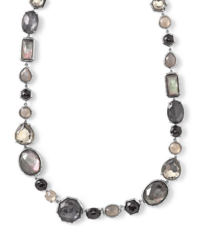 Rock Candy® Black Tie Strand Necklace, 16.5