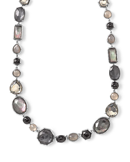 Ippolita Rock Candy® Black Tie Strand Necklace, 16.5