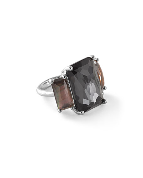 Rock Candy® Three-Stone Black Tie Cocktail Ring