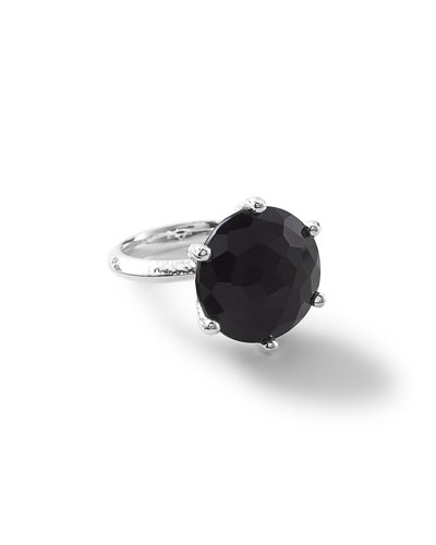 Rock Candy Large Round Black Onyx Ring
