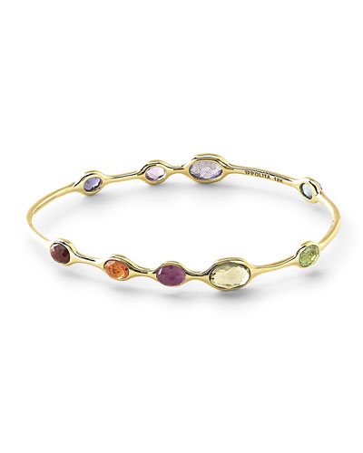 18k Rock Candy® Fall Rainbow Station Bangle