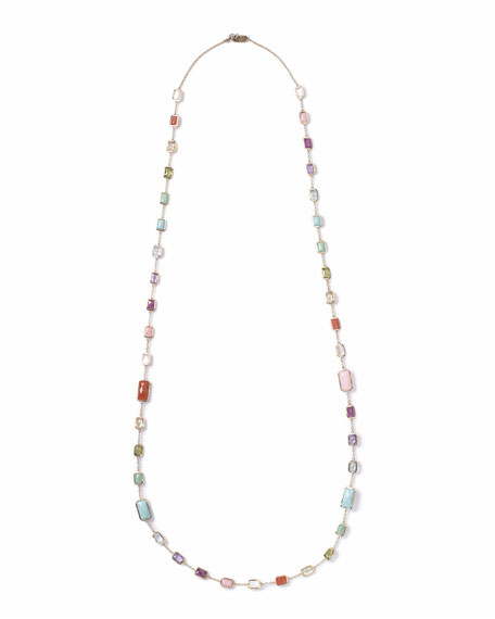 Ippolita 18k Rock Candy Summer Rainbow Chain Necklace,