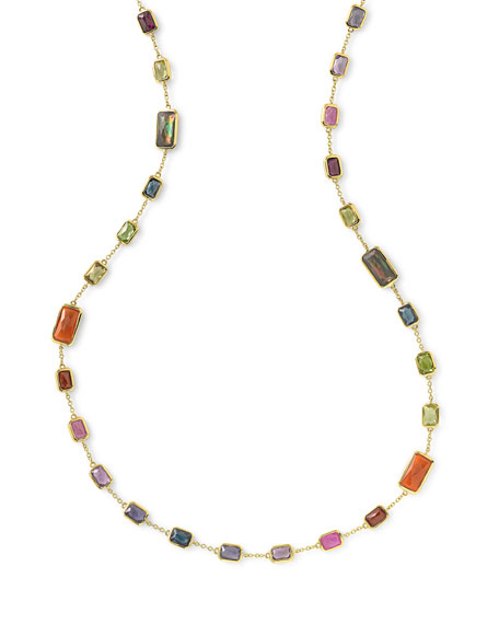 Ippolita 18k Gold Rock Candy Multi-Stone Necklace in