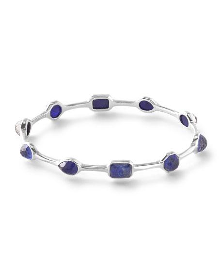 925 Rock Candy Lapis Doublet Oval Bangle Bracelet