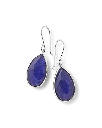 925 Rock Candy Pear Lapis Doublet Earrings