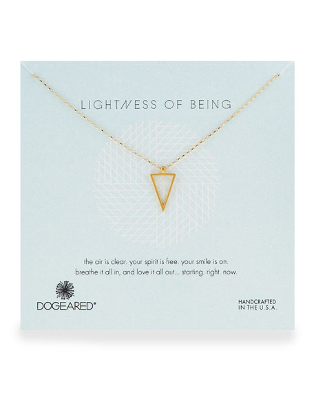 Air Triangle Gold-Dipped Pendant Necklace