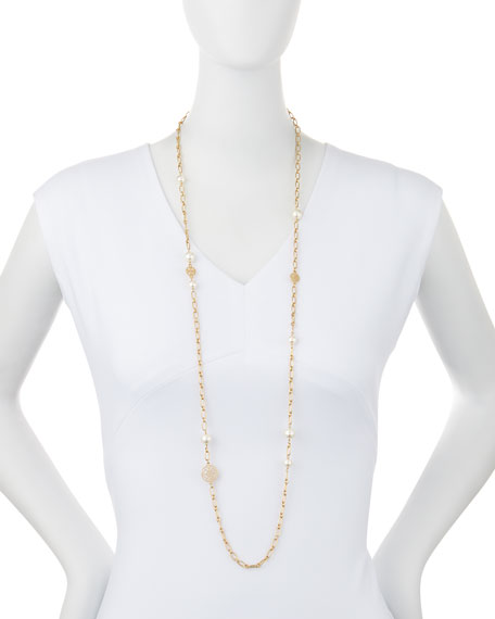 Evie Rosary Chain Necklace, 41""