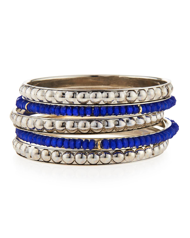 Beaded Bangle Bracelets Set Of 5
