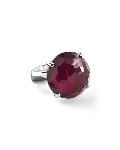 925 Rock Candy Large Round Ring in Cherry
