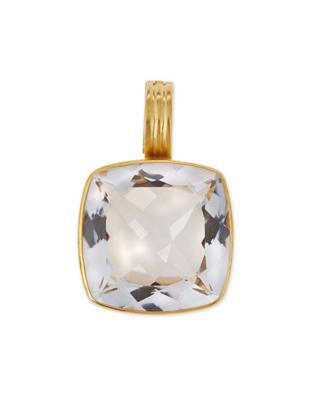 Dina Mackney Rock Crystal Doublet Enhancer