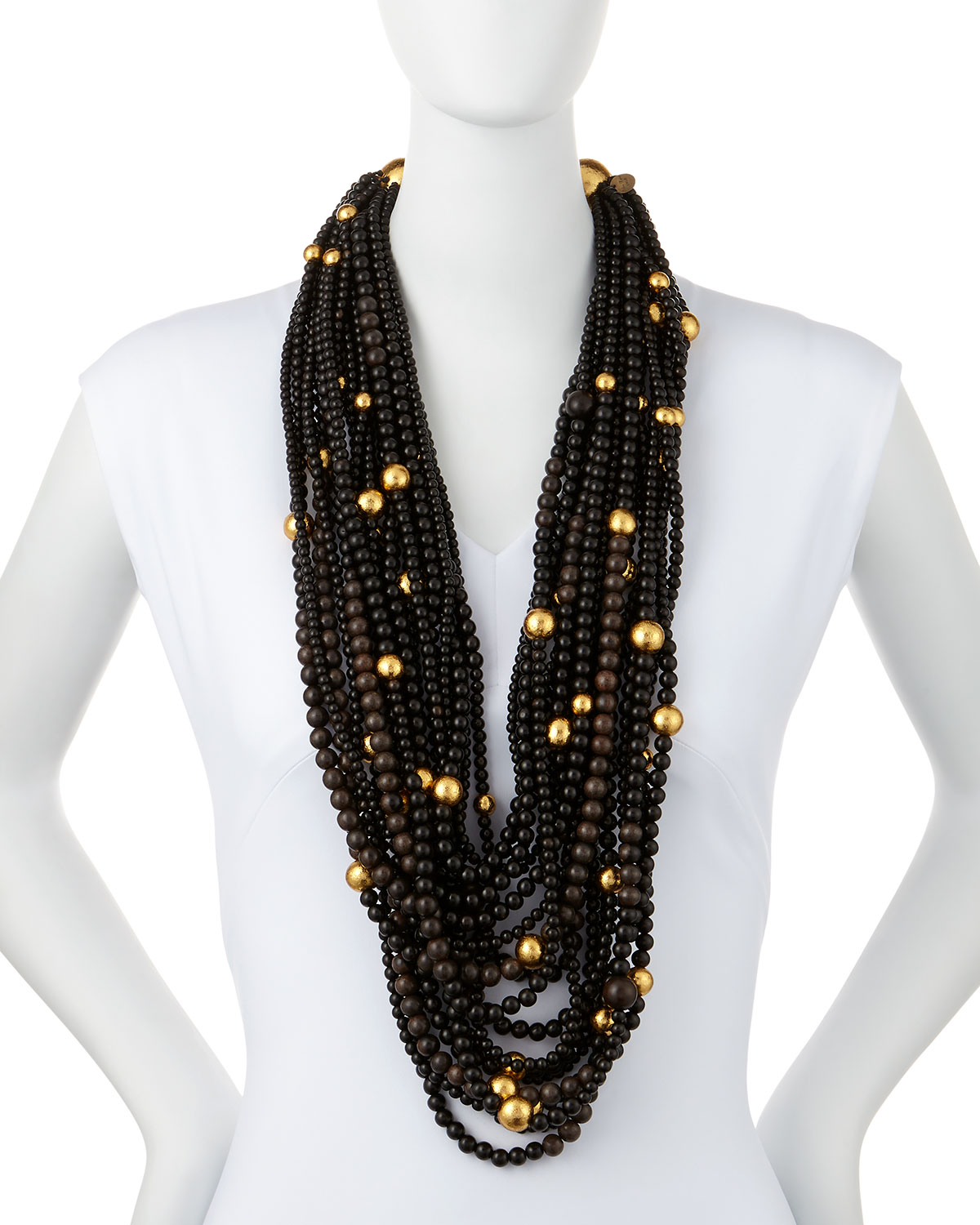 Viktoria Hayman Multi-Strand Beaded Statement Necklace rEW0v