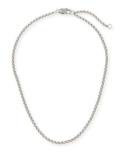 Sterling Silver Adjustable Chain Necklace, 16-18