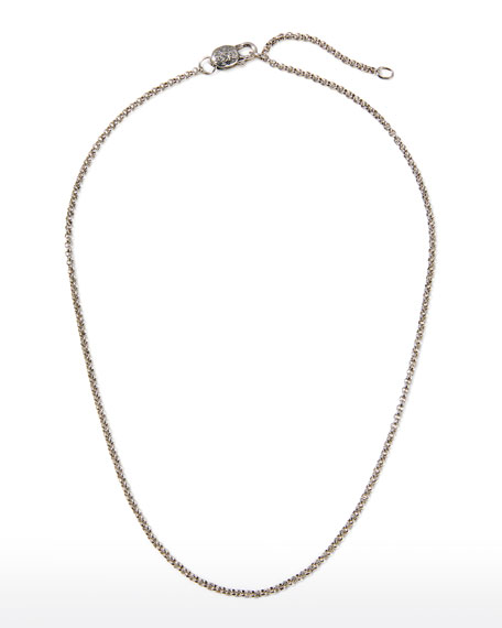"""Sterling Silver Adjustable Chain Necklace, 18-20""""L"""