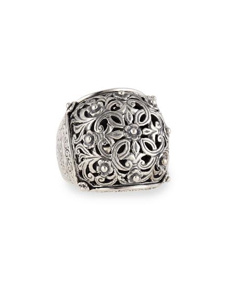 Konstantino Sterling Silver Domed Scroll Ring