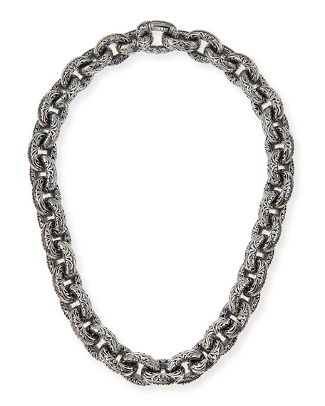Chunky Filigree Link Collar Necklace