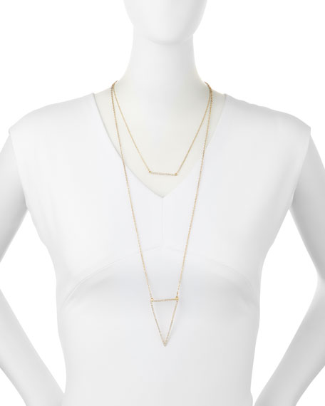 PAVE BAR AND TRIANGLE NECKLA