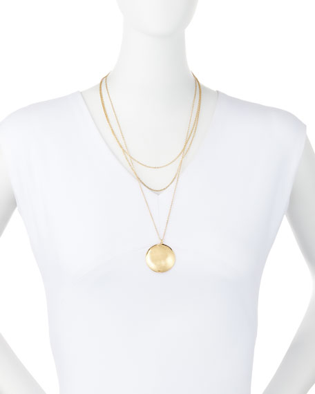 TRIPLE LAYER DISC NECKLACE