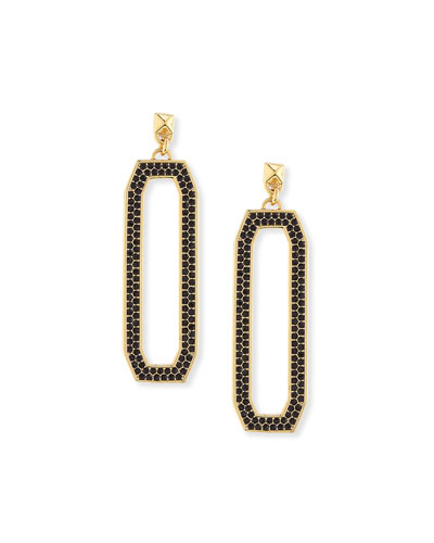 Pave Link Drop Earrings