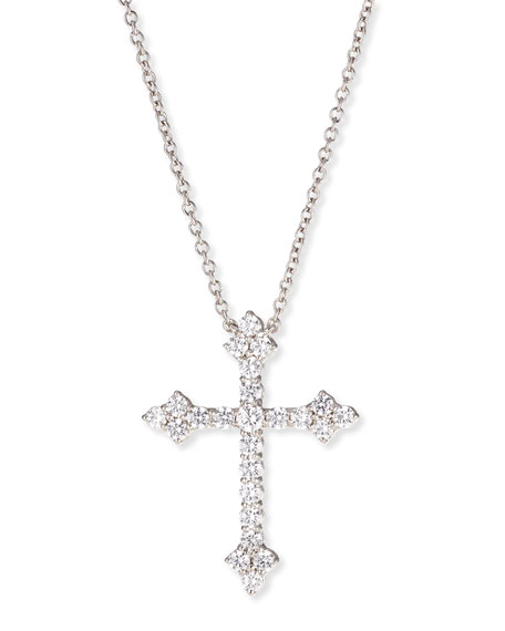 Fantasia by deserio large cz cross pendant necklace neiman marcus mozeypictures Choice Image