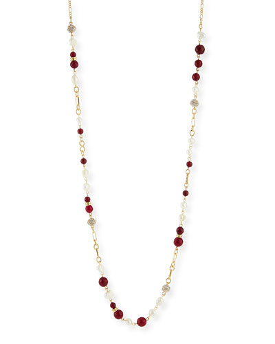Pearly Berry Bead Necklace, 45