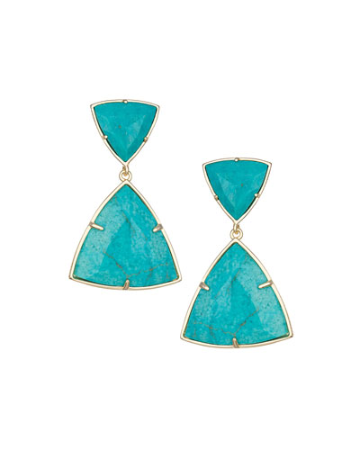 Maury Turquoise Magnesite Earrings