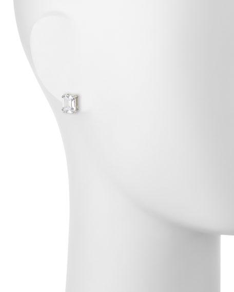 Asscher-Cut CZ Stud Earrings
