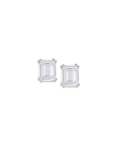 Lisa Freede Asscher-Cut CZ Stud Earrings