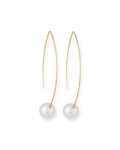 Gold-Plate Pearly Threader Earrings