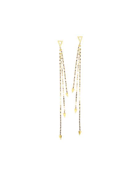 Lana 14K Gold Elite Tri Vista Earrings
