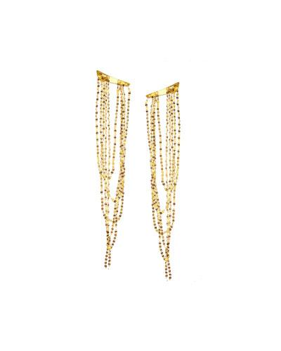 14K Gold Elite Long Draping Earrings