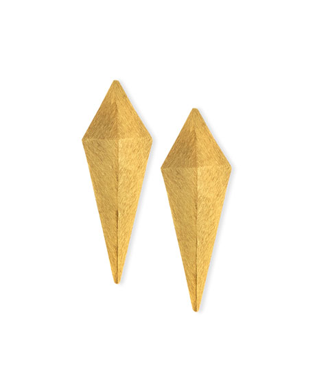 Abstract 24K Gold-Plated Earrings