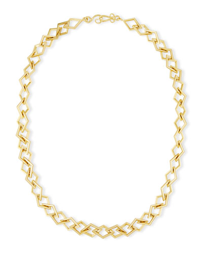 Element Square Link Chain Necklace, 36