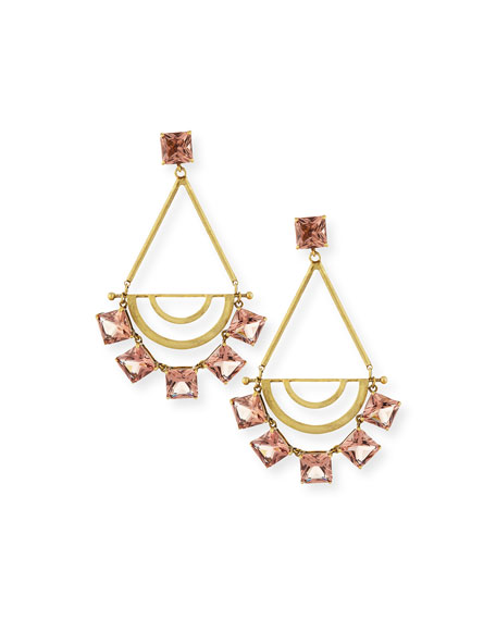 Tory Burch Teardrop Crystal Statement Earrings, Spiceberry