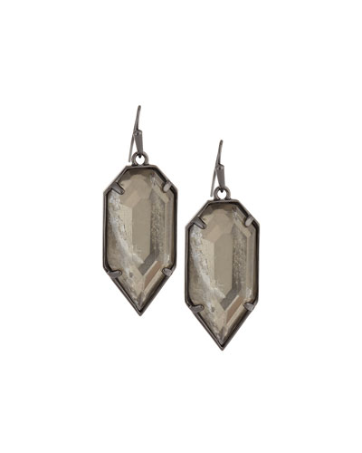 Palmer Mirror Rock Drop Earrings