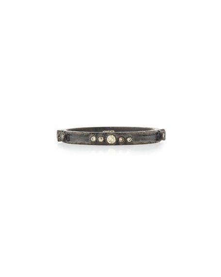 Armenta Old World Midnight Diamond Stacking Ring