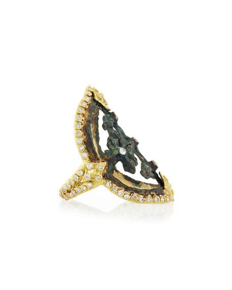 Sueño 18K Gold & Pavé Diamond Artifact Ring