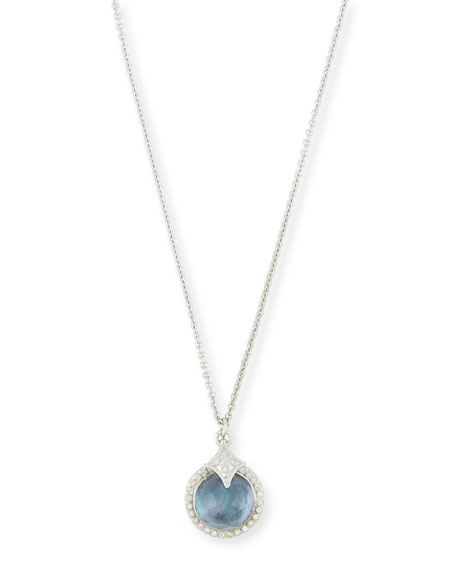 Armenta New World Blue Sapphire Triplet Pendant Necklace