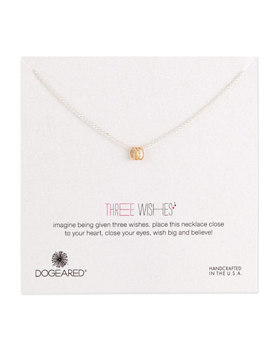 Three Wishes Triple-Ring Necklace