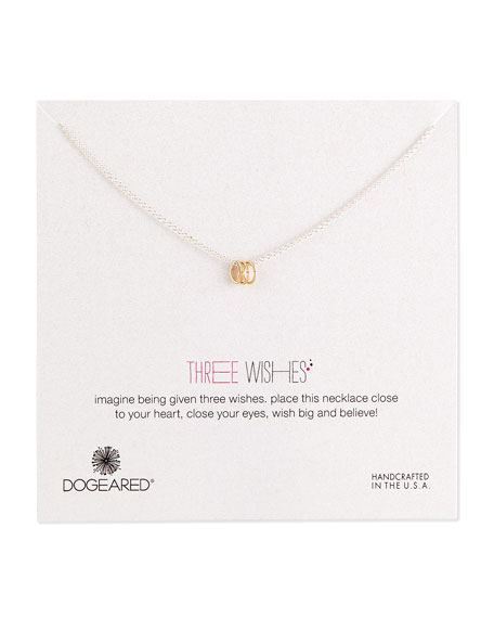 Dogeared Three Wishes Triple-Ring Necklace