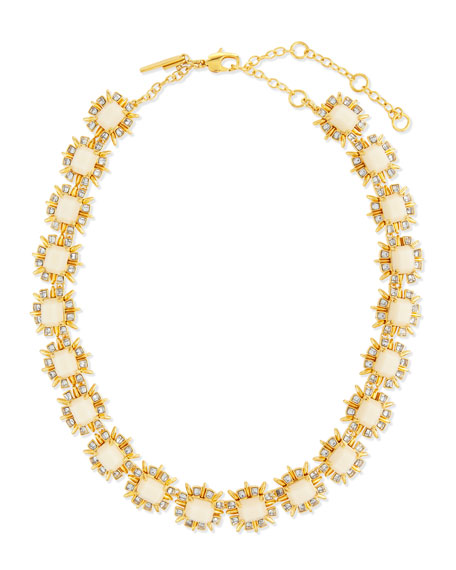 Lele Sadoughi Solstice Crystal Collar Necklace