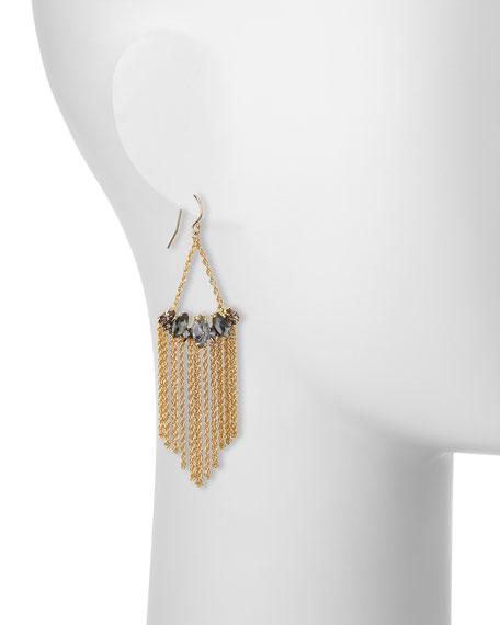 Navette Fringe Chandelier Earrings