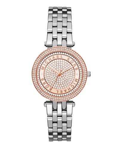 Darci Mini 33mm Silvertone Bracelet Watch