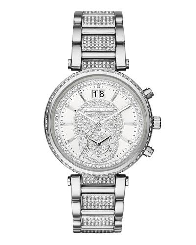 Sawyer 39mm Pavé Crystal Watch