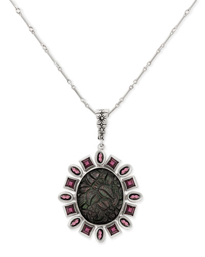 Carved Tahitian Mother-of-Pearl Necklace