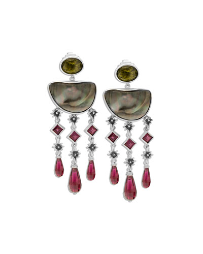 Tahitian Mabe Pearl Drop Earrings