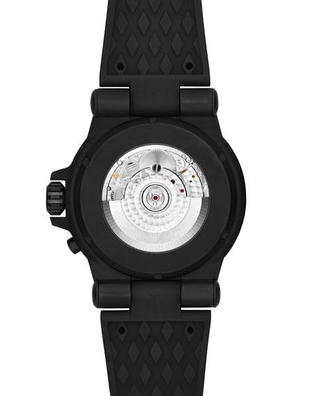 Dylan 48mm Rose Golden Chronograph Watch, Black