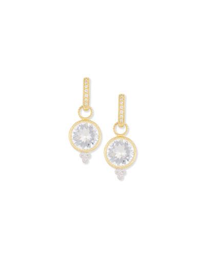 Provence White Topaz & Diamond Charms for Earrings