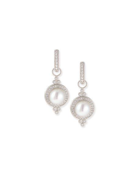 Provence Pearl & Pave Diamond Earring Charms