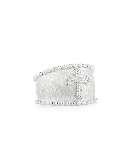 JudeFrances Jewelry Guinevere Pavé Diamond Cross Ring