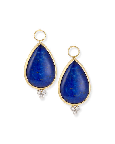 Provence Pear-Shaped Lapis Charms for Earrings